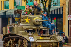 Desfile 2016 del día de veteranos Fotos de archivo