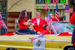 Desfile 2016 del día de veteranos Foto de archivo