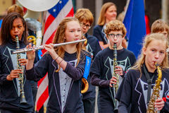Desfile 2016 del día de veteranos Imagen de archivo