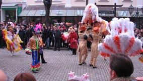 Desfile del día del inocente en Odessa, Ucrania Foto de archivo libre de regalías
