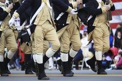 Desfile del día del patriota Foto de archivo libre de regalías