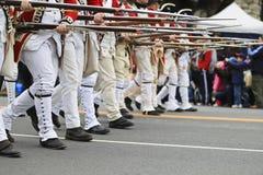 Desfile del día del patriota imagenes de archivo
