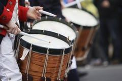 Desfile del día del patriota imagen de archivo