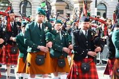 Desfile del día del St Patrick. Fotos de archivo libres de regalías