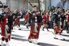 Desfile del día del St. Patrick Imagenes de archivo