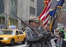 Desfile del día del St Patrick Imagenes de archivo