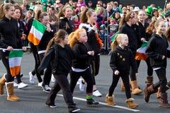 Desfile del día del St. Patrick en quintilla Imágenes de archivo libres de regalías