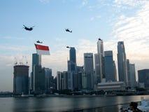 Desfile del día nacional de Singapur Fotos de archivo libres de regalías