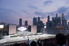 Desfile del día nacional de Singapur reheasal Foto de archivo libre de regalías