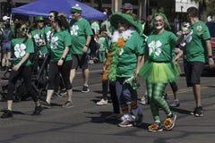Desfile del día del ` s de St Patrick en Phoenix, Arizona Fotografía de archivo libre de regalías