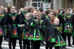 Desfile del día del St Patrick Fotos de archivo