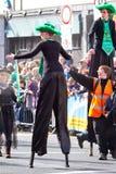 Desfile del día del St. Patrick en quintilla Fotos de archivo libres de regalías