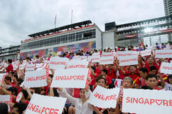 Desfile 2013 del día nacional de Singapur Foto de archivo