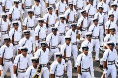Desfile del ejército del día de la república Fotografía de archivo libre de regalías