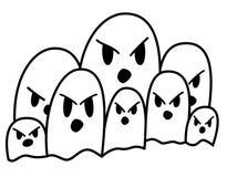 Desfile del fantasma Imagen de archivo libre de regalías