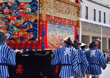 Desfile del festival de Gion, Kyoto Japón en julio imágenes de archivo libres de regalías