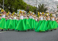 Desfile del festival de la flor de Madeira en Funchal en la isla de Madeira portugal Fotografía de archivo libre de regalías