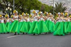Desfile del festival de la flor de Madeira en Funchal en la isla de Madeira portugal Fotos de archivo libres de regalías