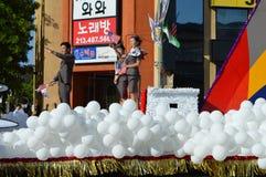 Desfile 2015 del festival de Los Ángeles Corea del flotador del globo Fotos de archivo libres de regalías