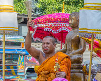 Desfile del festival de Sonkran Imagenes de archivo