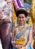 Desfile del festival de Sonkran Foto de archivo libre de regalías