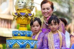 Desfile del festival de Sonkran Imagen de archivo libre de regalías