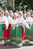 Desfile del festival nacional estonio de la canción en Tallinn, Estonia imagen de archivo
