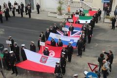 Desfile del MORENO de marinas de guerra extranjeras Fotografía de archivo libre de regalías