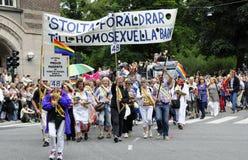 Desfile del orgullo de Estocolmo Fotografía de archivo