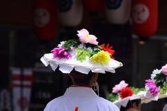 Desfile del parasol florido, Kyoto Japón imagen de archivo