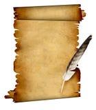 Desfile del pergamino y de la pluma stock de ilustración
