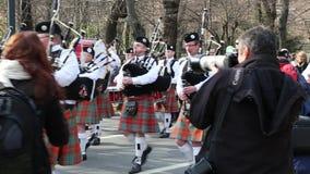 Desfile del St patrick almacen de video