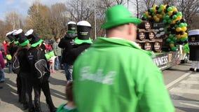 Desfile del St patrick almacen de metraje de vídeo
