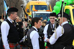 Desfile del St patrick Fotos de archivo libres de regalías