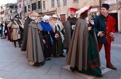 Desfile del traje Fotos de archivo libres de regalías