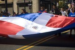 Desfile dominicano del día Foto de archivo