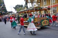 Desfile eléctrico de la calle principal en Disney Orlando Imagen de archivo