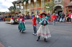 Desfile eléctrico de la calle principal en Disney Orlando Foto de archivo libre de regalías