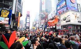 Desfile el 26 de noviembre de 2009 del día de la acción de gracias de Macy Fotografía de archivo