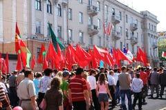 Desfile el 9 de mayo foto de archivo libre de regalías