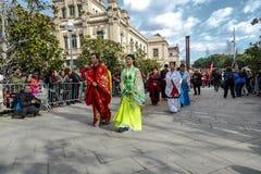 Desfile en Barcelona del Año Nuevo chino Fotografía de archivo libre de regalías
