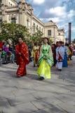 Desfile en Barcelona del Año Nuevo chino Imagen de archivo libre de regalías