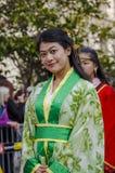 Desfile en Barcelona del Año Nuevo chino Fotos de archivo