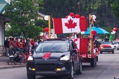 Desfile en el día de Canadá en Banff Imagen de archivo
