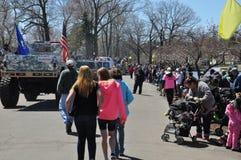 Desfile en el 37.o festival anual del narciso en Meriden, Connecticut Imagen de archivo