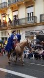 Desfile en España, Valencia fotografía de archivo libre de regalías
