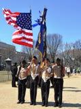 Desfile en Washington, C.C. del día del St. Patrick. Foto de archivo