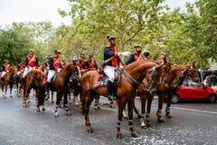 Desfile español del ejército del día nacional en Madrid fotos de archivo