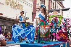 Desfile Fiestas Mexicanas Arkivbilder