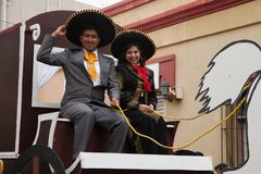 Desfile Fiestas Mexicanas Fotografia Stock